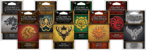 A GAME OF THRONES THE CARD GAME 2ND EDITION LCG INTRO DECKS