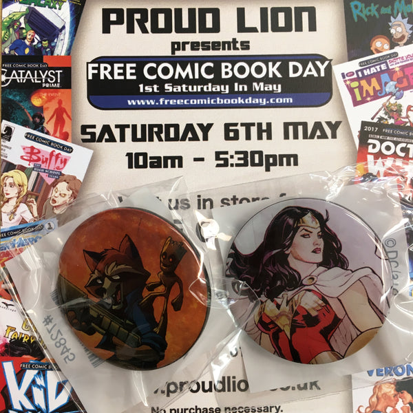 FREE COMIC BOOK DAY 2017 METAL PINS!