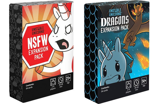 UNSTABLE UNICORNS NSFW AND DRAGONS EXPANSIONS