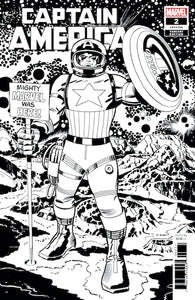 CAPTAIN AMERICA #2 KIRBY B & W REMASTERED VAR (1:100)