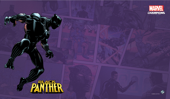 MARVEL CHAMPIONS THE CARD GAME BLACK PANTHER GAME MAT