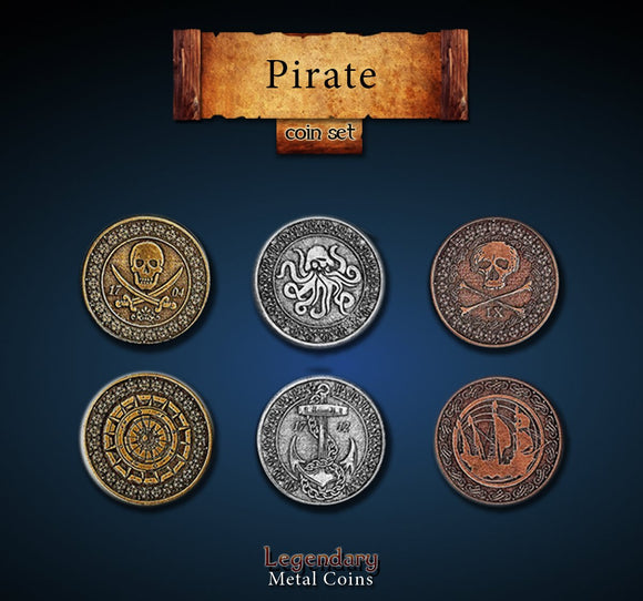 LEGENDARY METAL COINS - PIRATE