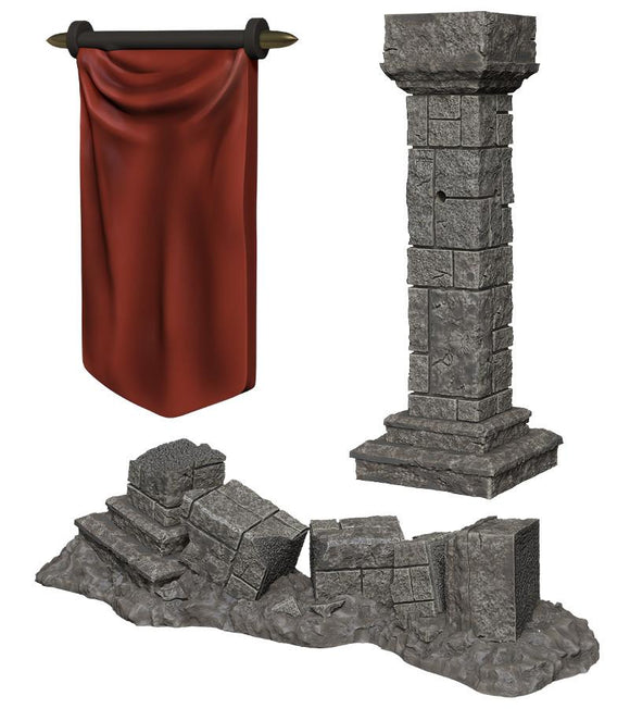 WIZKIDS DEEP CUTS MINIATURES PILLARS & BANNERS
