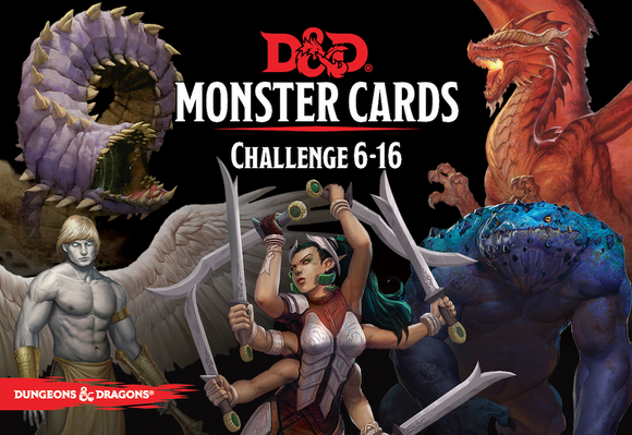 DUNGEONS & DRAGONS 5TH EDITION RPG MONSTER CARDS CHALLENGE 6-16