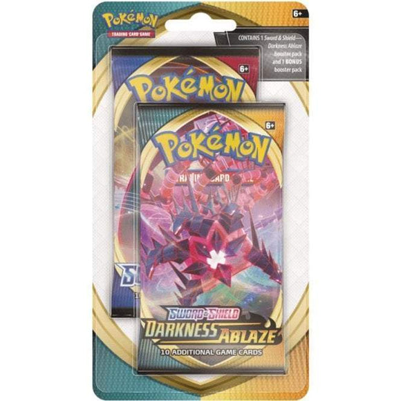 POKÉMON TCG SWORD & SHIELD DARKNESS ABLAZE CELEBRATION 2-PACK BLISTER
