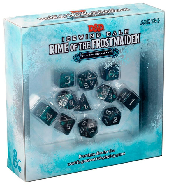 DUNGEONS & DRAGONS 5TH EDITION RPG ICEWIND DALE RIME OF THE FROSTMAIDEN DICE SET