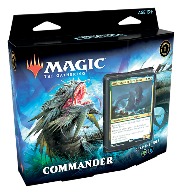 MAGIC: THE GATHERING COMMANDER LEGENDS DECK REAP THE TIDES