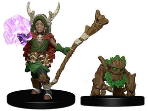 WARDLINGS PRE-PAINTED MINIATURES BOY DRUID AND TREE CREATURE
