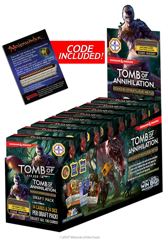 DUNGEONS & DRAGONS DICE MASTERS TOMB OF ANNIHILATION DRAFT PACK
