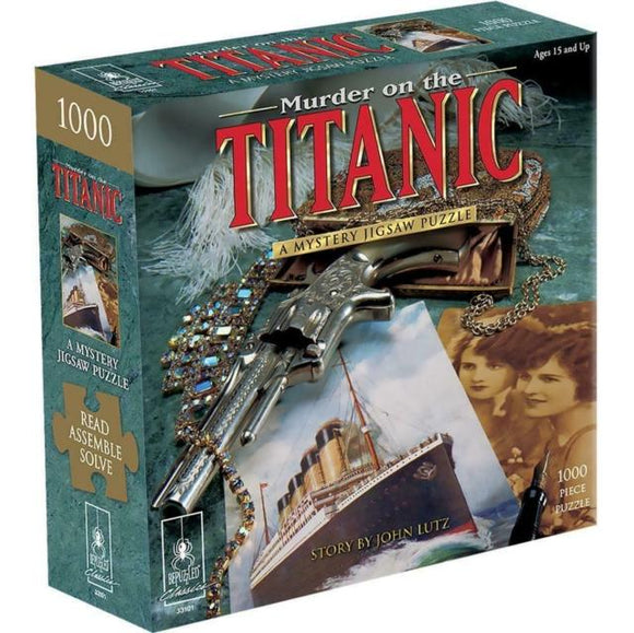 BEPUZZLED MURDER ON THE TITANIC 1000 PIECE MYSTERY JIGSAW PUZZLE
