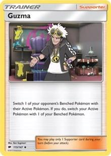 PKM SINGLE: GUZMA REVERSE FOIL (BURNING SHADOWS)