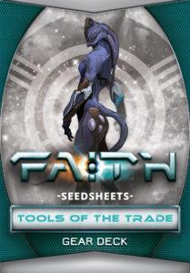 FAITH THE SCI-FI RPG 2ND EDITION DECK - SEEDSHEETS TOOLS OF THE TRADE GEAR