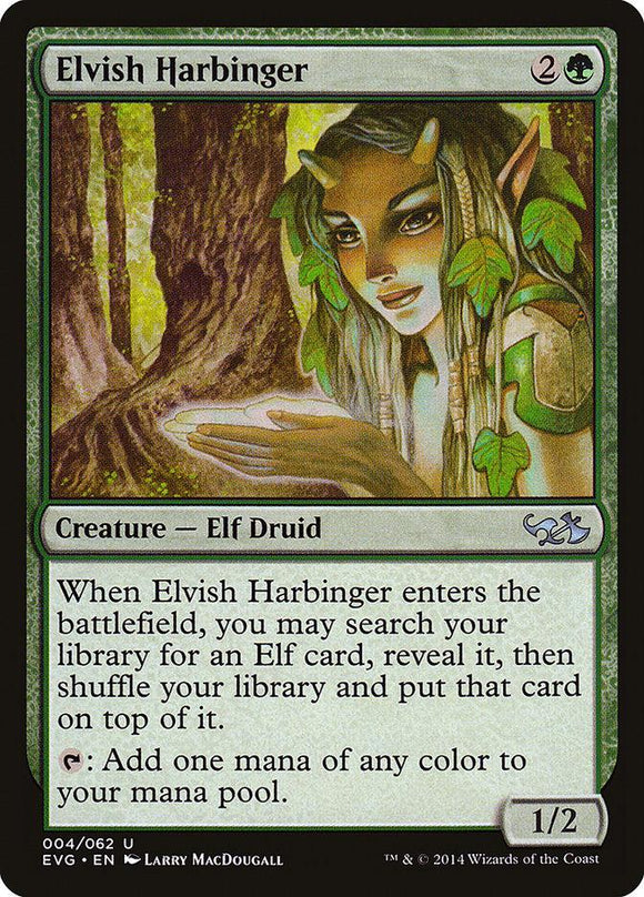 MTG SINGLE: ELVISH HARBINGER (EVG)