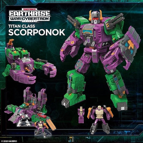 TRANSFORMERS WAR FOR CYBERTRON: EARTHRISE TITAN SCORPONOK AF