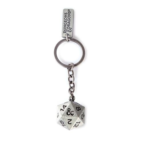 DUNGEONS & DRAGONS D20 METAL KEYCHAIN