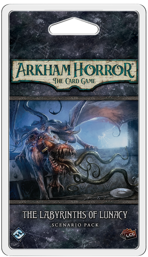 ARKHAM HORROR: THE CARD GAME LCG THE LABYRINTHS OF LUNACY SCENARIO PACK