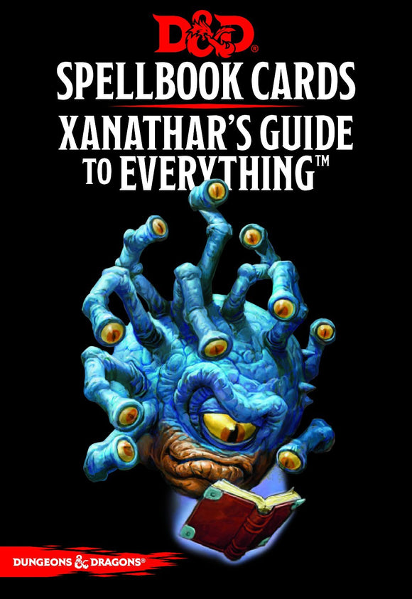 DUNGEONS & DRAGONS 5TH EDITION RPG XANATHAR'S GUIDE TO EVERYTHING SPELLBOOK CARDS