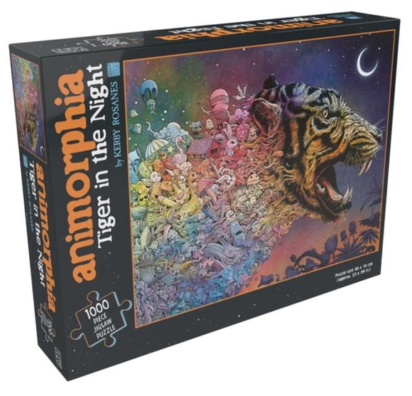 ANIMORPHIA TIGER IN THE NIGHT 1000 PIECE JIGSAW PUZZLE
