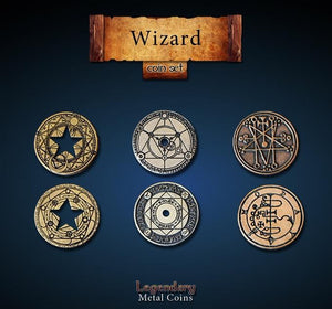 LEGENDARY METAL COINS - WIZARD