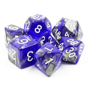 HD POLYHEDRAL 7-DIE SET - COLD IRON BLUE