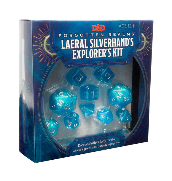 DUNGEONS & DRAGONS 5TH EDITION RPG LAERAL SILVERHAND'S EXPLORER'S KIT DICE SET