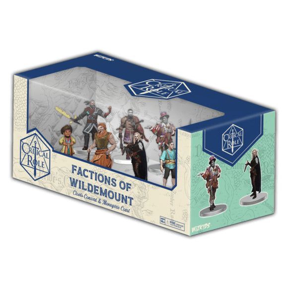 [PREORDER] CRITICAL ROLE PREPAINTED: FACTIONS OF WILDEMOUNT - CLOVIS CONCORD & MENAGERIE COAST BOX SET