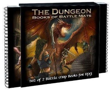 DUNGEON BOOKS OF BATTLE MATS (2 BOOK SET)