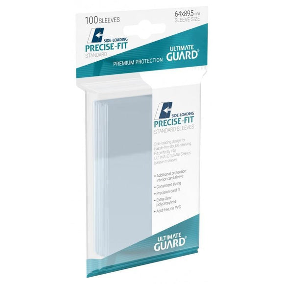 ULTIMATE GUARD PRECISE FIT SIDE-LOADING SLEEVES STANDARD SIZE (100)
