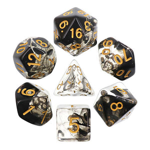 ELEMENTAL POLYHEDRAL 7-DIE SET - DARK CLOUD BLACK