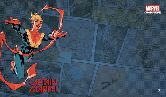 MARVEL CHAMPIONS THE CARD GAME CAPTAIN MARVEL GAME MAT
