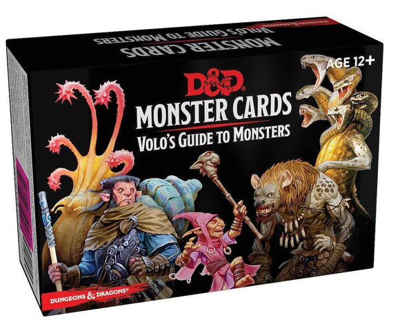 DUNGEONS & DRAGONS 5TH EDITION RPG MONSTER CARDS VOLO'S GUIDE TO MONSTERS
