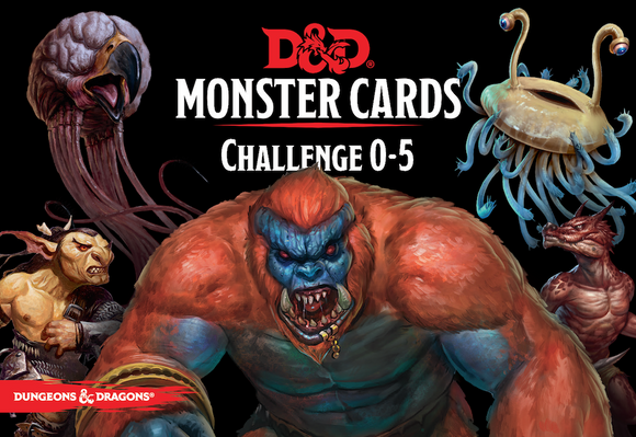 DUNGEONS & DRAGONS 5TH EDITION RPG MONSTER CARDS CHALLENGE 0-5