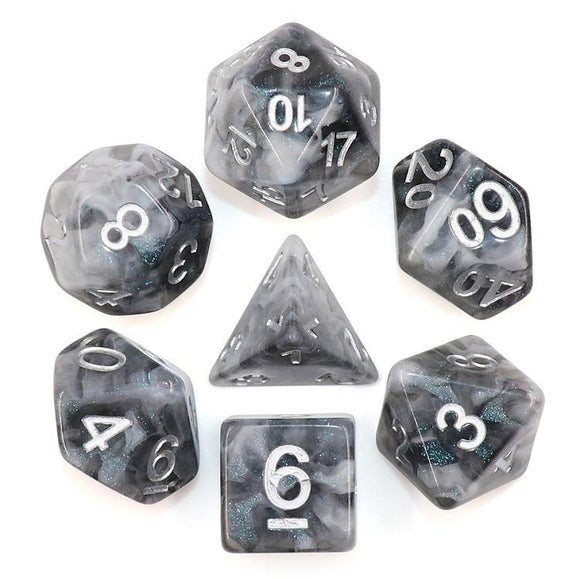HD POLYHEDRAL 7-DIE SET - SNOWY CRYSTAL