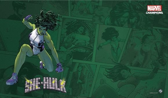 MARVEL CHAMPIONS THE CARD GAME SHE-HULK GAME MAT