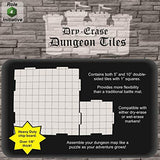 DRY ERASE DUNGEON TILES: WHITE SQUARE MIXED PACK