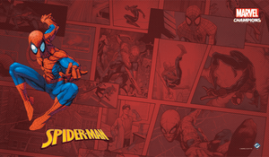 MARVEL CHAMPIONS THE CARD GAME SPIDER-MAN GAME MAT