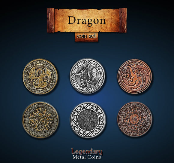 LEGENDARY METAL COINS - DRAGON