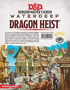 DUNGEONS & DRAGONS 5TH EDITION RPG WATERDEEP: DRAGON HEIST DUNGEON MASTER'S SCREEN