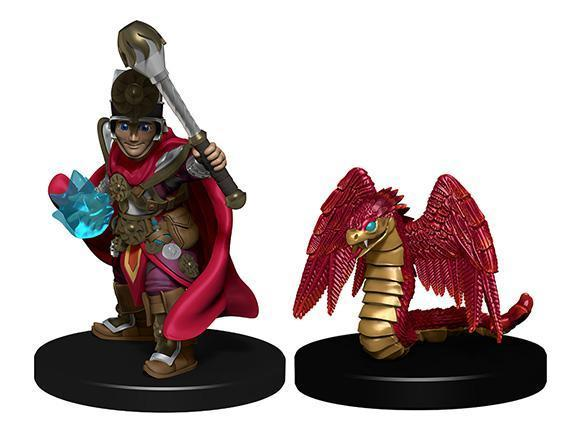WARDLINGS PRE-PAINTED MINIATURES BOY CLERIC AND WINGED SNAKE