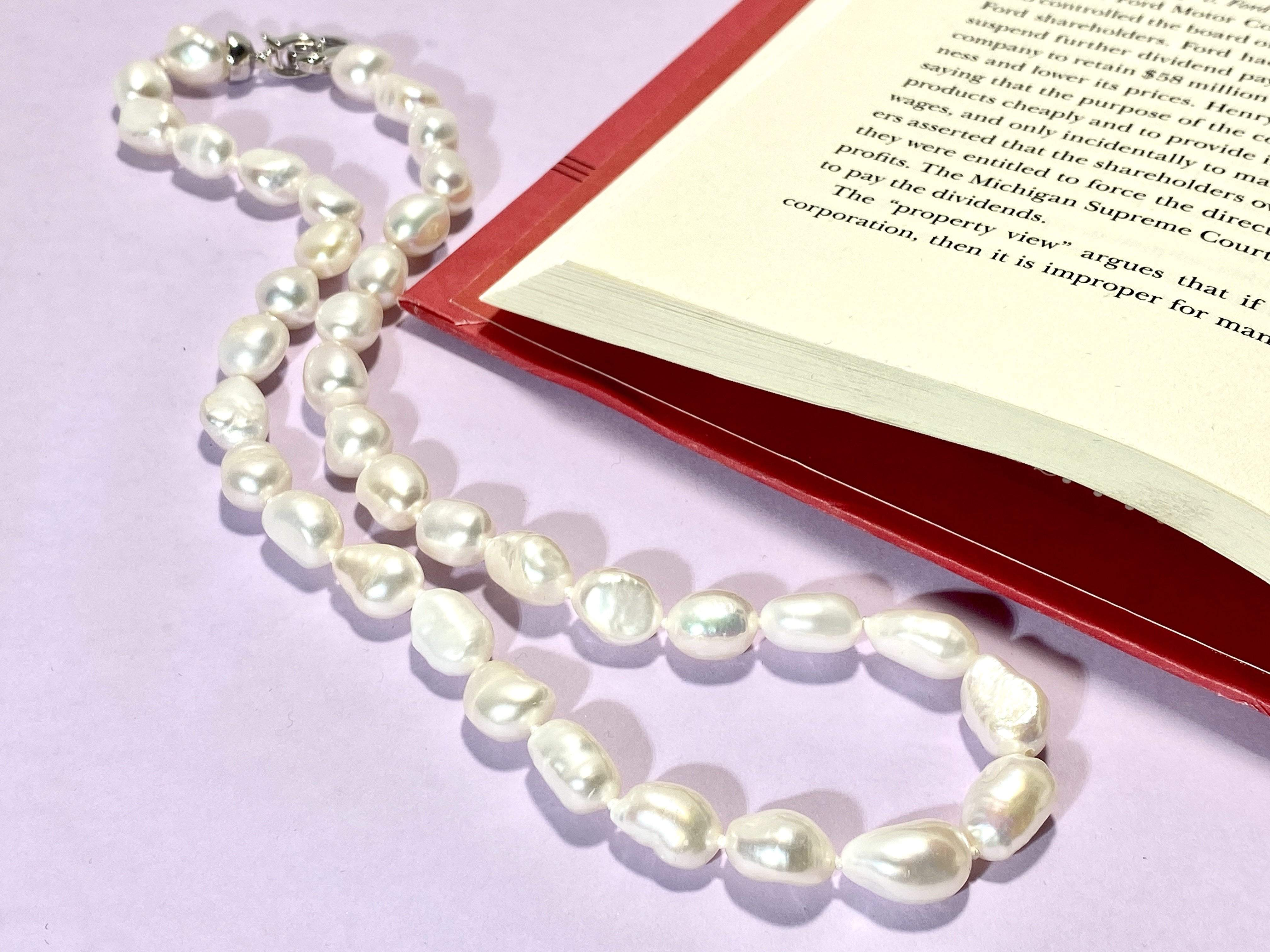 CLASSY ME - Love Letter Jewelry - 925 Sterling Silver Jewelry - Organic Pearl Jewelry