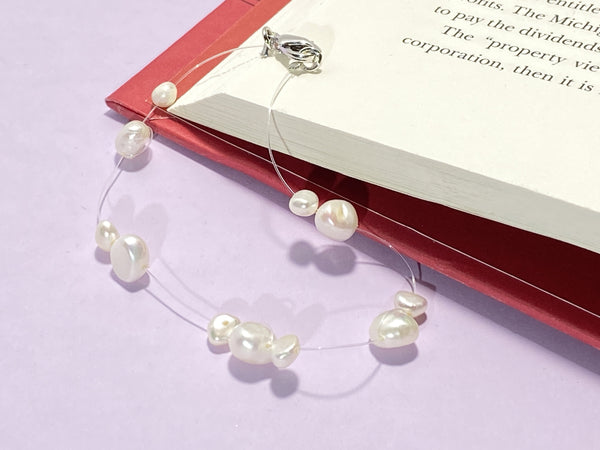 BOUGIE - Love Letter Jewelry - 925 Sterling Silver Jewelry - Organic Pearl Jewelry