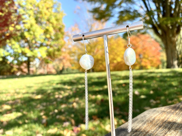 THE FALLS - Love Letter Jewelry - 925 Sterling Silver Jewelry - Organic Pearl Jewelry