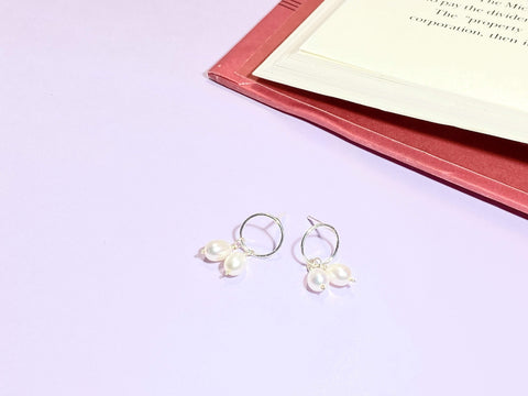 TWINNING - Love Letter Jewelry - 925 Sterling Silver Jewelry - Organic Pearl Jewelry