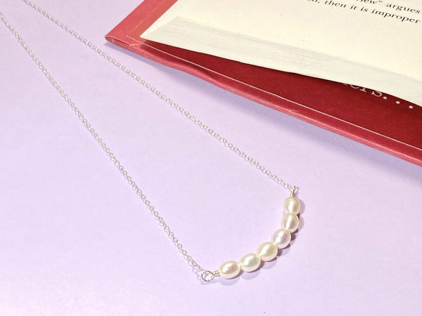 SMILE - Love Letter Jewelry - 925 Sterling Silver Jewelry - Organic Pearl Jewelry