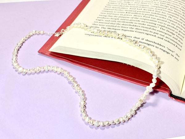 DREAM BIG - white pearl Necklaces - white pearls Necklace - Love Letter Jewelry