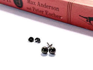 BLACKER THAN YOUR SOUL - Black - Gold Plated - Stud - Earrings - Earring - Love Letter Jewelry
