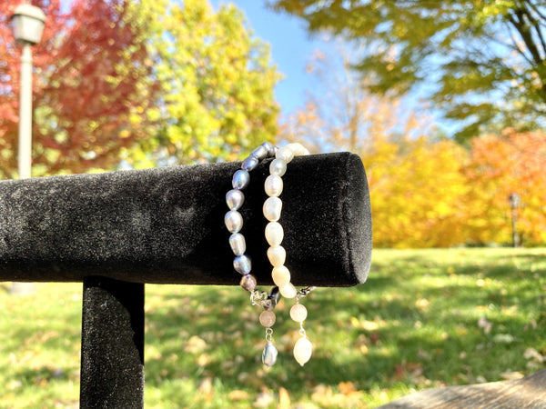 BED OF PEARLS - Love Letter Jewelry - 925 Sterling Silver Jewelry - Organic Pearl Jewelry