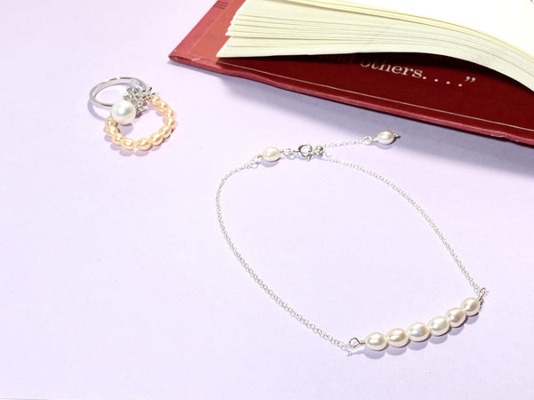 HOLD MY SECRET - Love Letter Jewelry - 925 Sterling Silver Jewelry - Organic Pearl Jewelry