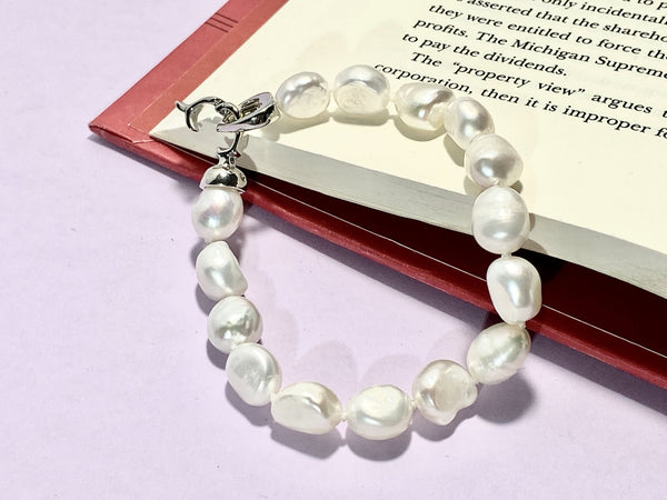 STYLISH - Love Letter Jewelry - 925 Sterling Silver Jewelry - Organic Pearl Jewelry