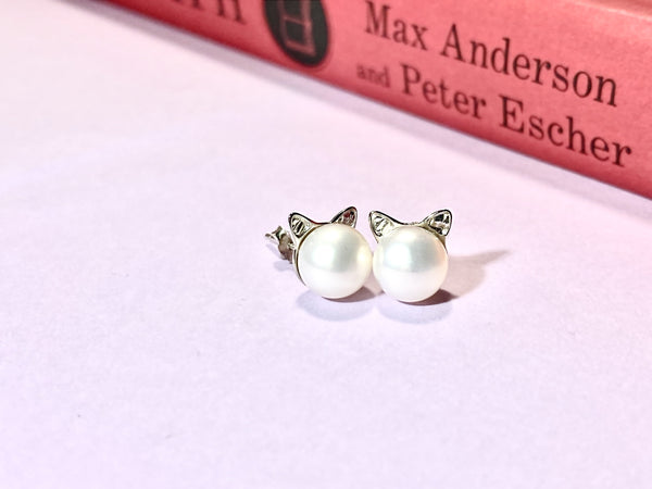 CAT LOVER - Love Letter Jewelry - 925 Sterling Silver Jewelry - Organic Pearl Jewelry
